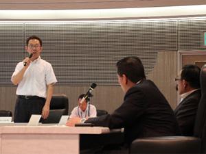 執行役の広川より、製品のコンセプトなどの説明を行いました。